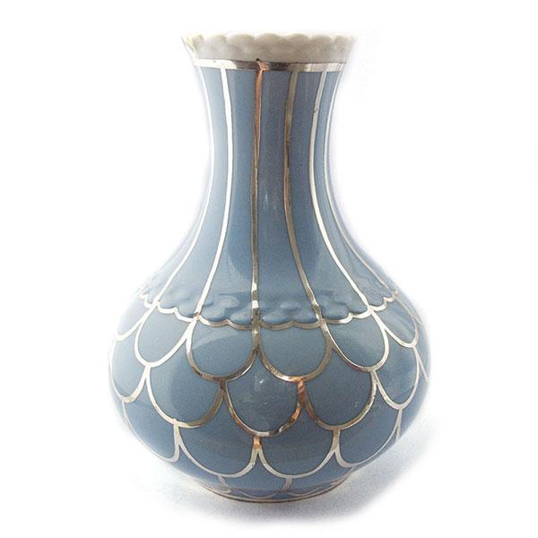 veyhl silber porzellan vase silber auflage silver. Black Bedroom Furniture Sets. Home Design Ideas