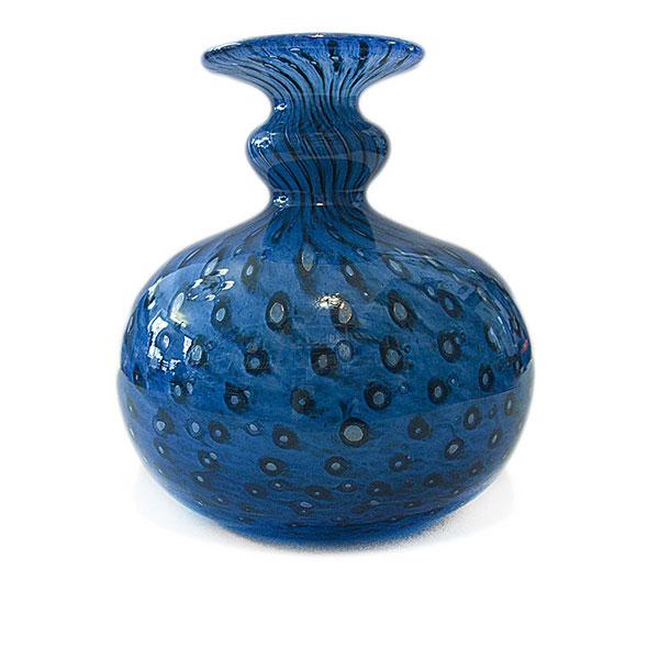 glas vase bertil vallien kosta boda glasbruk blau blasen. Black Bedroom Furniture Sets. Home Design Ideas