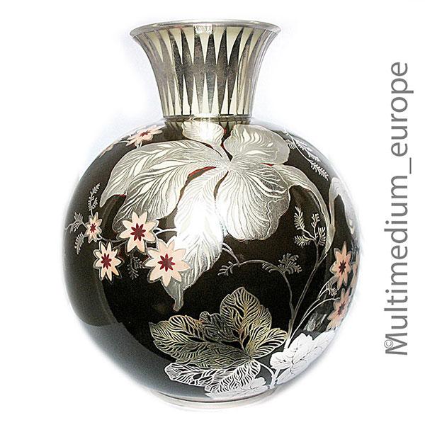 rosenthal silber overlay porzellan vase silber auflage. Black Bedroom Furniture Sets. Home Design Ideas