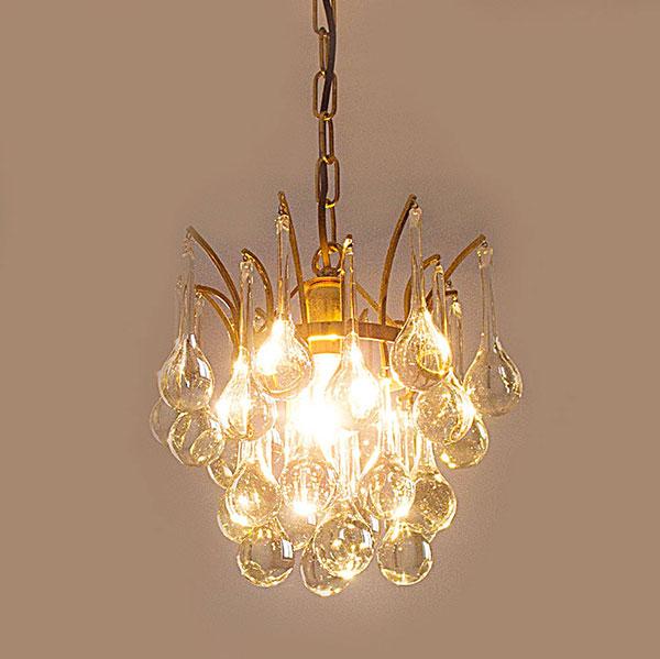 christoph palme deckenlampe messing lampe glas tropfen 70er jahre ebay. Black Bedroom Furniture Sets. Home Design Ideas