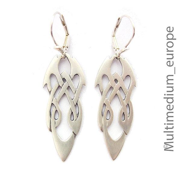 keltische Silber Ohrringe Knoten Kelten silver celtic knots earrings ...
