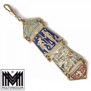 Art Deco Chatelaine antik um 1925 Ägypten egyptian revival Uhrenkette