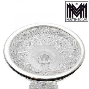 Art Deco Silber Kristall Glas Schale 30er Jahre silver glass bowl 30s