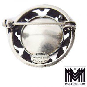N.E. Nils Erik From Denmark Brosche Silber Modernist Rosenquarz silver brooch
