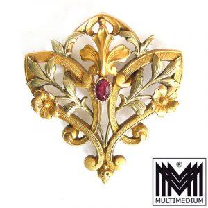 Jugendstil Anhänger vergoldet Frankreich 1900 art nouveau pendant france Fix