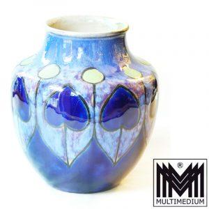 Florrie Jones Arts and Crafts Steingut Vase, Royal Doulton England,
