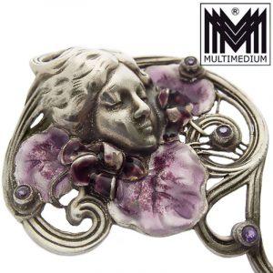 Jugendstil Silber Anhänger Brosche art nouveau silver brooch pendant