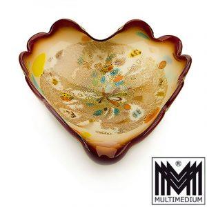 Wunderschöne Barovier & Toso Murano Glas Schale Millefiori glass bowl