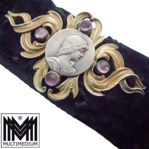 Jugendstil Silber Halsband Andreas Odenwald Pforzheim silver