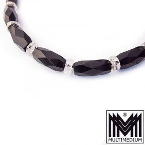 Art Deco Onyx Collier Halskette Bergkristall Orig 30er Jahre necklace