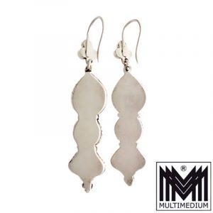 Alte Silber Türkis Ohrringe Handarbeit silver earrings turquoise