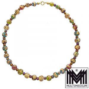 Murano Glas Kette Halskette vintage murano glass necklace millefiori