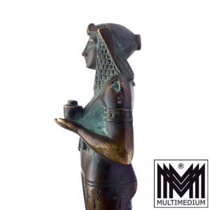 Art Deco Bronze Petschaft Priesterin Ägypten Egyptian Revival Antik