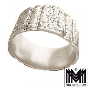Jugendstil Silber Armreif Armband Handarbeit ziseliert silver bangle