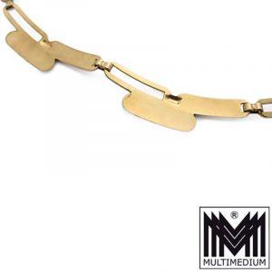 Vintage 333er Modernist Gelb Gold Damen Halskette Collier necklace 8 Karat