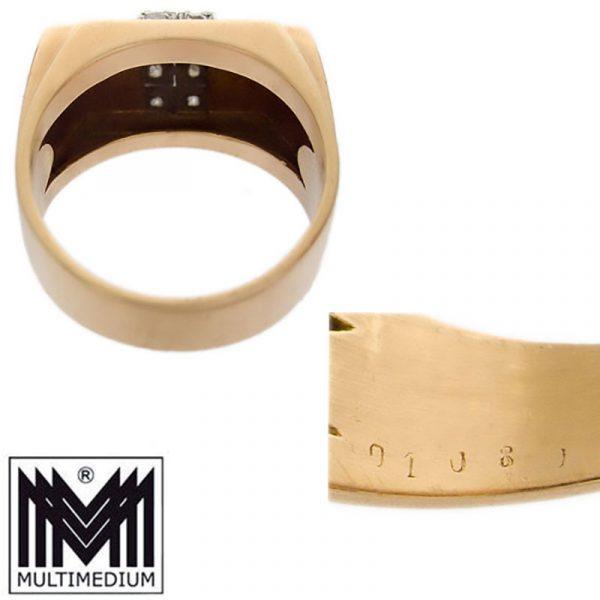 Art Deco 585 Gelbgold Damen Ring Diamant Fingerring 14ct gold diamond
