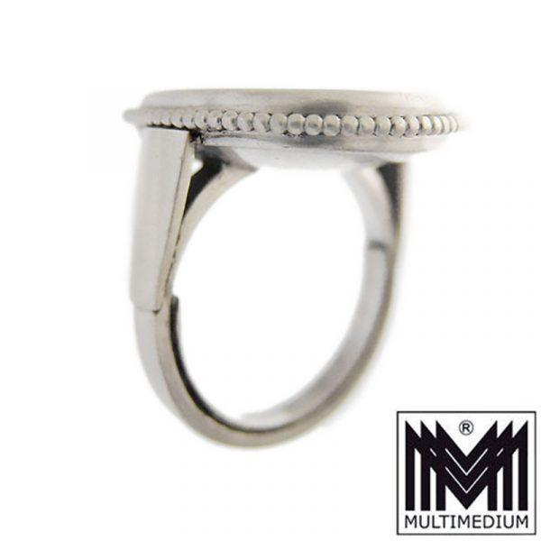 Silber Fingerring Karneol Intaglio Kamee Gemme graviert Ring