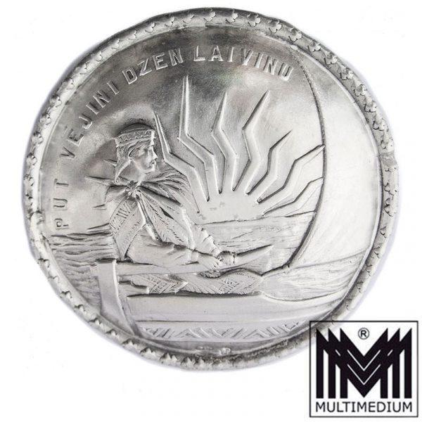 Große Jugendstil 875 Silber Brosche Lettland Bernhard Bergholtz Riga
