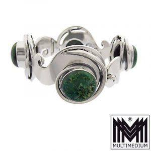 925 Silber Armband Los Ballesteros Taxco Mexiko Jaspis silver Mexico