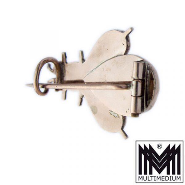 Antike Tombak Granat Brosche Käfer Insekt gilt bug brooch