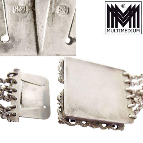 Art Deco Gustav Hauber Silber Trachtenkette Koralle Kropfkette