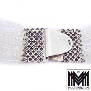 925 Silber Mondstein Collier Halskette moonstone silver necklace