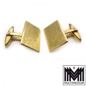 585er Gold Manschettenknöpfe 14ct gold cuff links 12,15 g 14 Karat 14kt