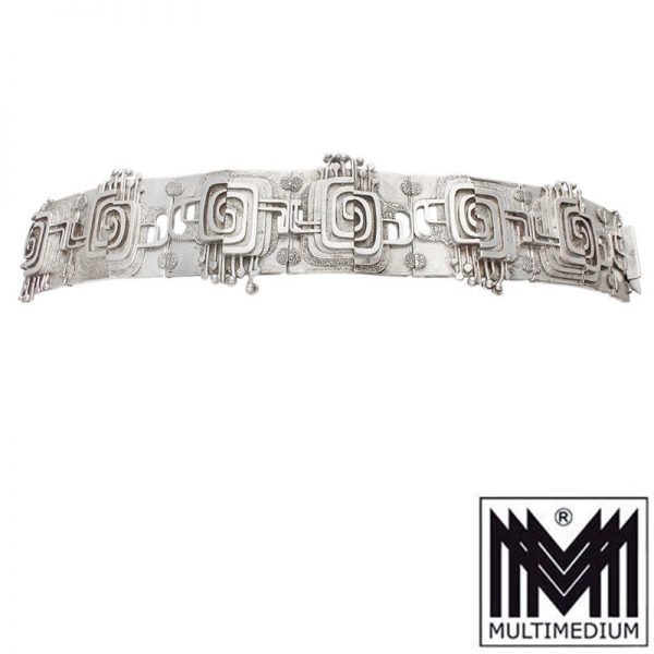 Modernist Silber Armband 60er Jahre Space Age Art Deco Style silver