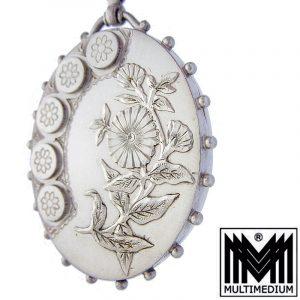 Victorianisches Silber Medaillon Victorian Art nouveau silver locket