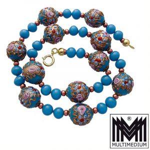 Alte Murano Glas Halskette vintage murano glass necklace millefiori