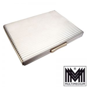 Art Deco Zigaretten Etui Silber vergoldet silver cigarette case box