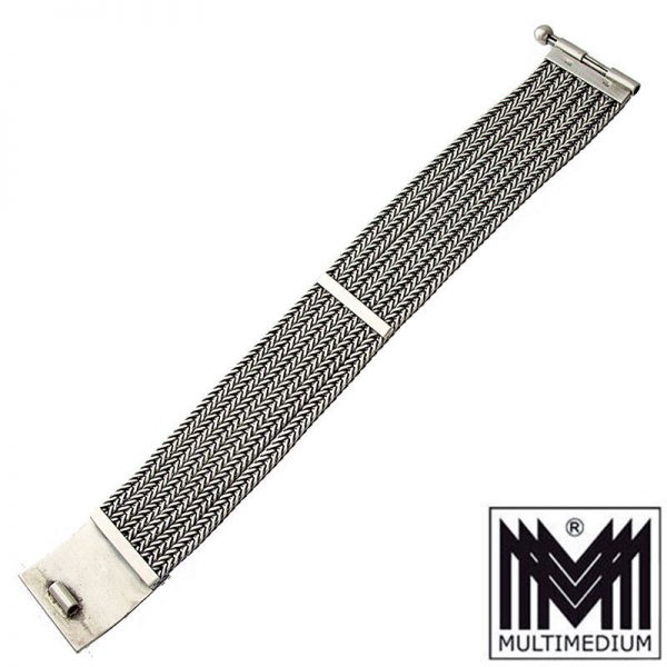 Gustav Hauber Jugendstil Silber Armband Türkis silver bracelet
