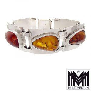 Silber Bernstein Armband Georg Kramer Modenist silver amber bracelet