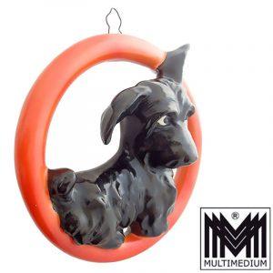 Hummel Figur Wandring Rot Terrier F.X.984. 30iger Jahre Krone Goebel