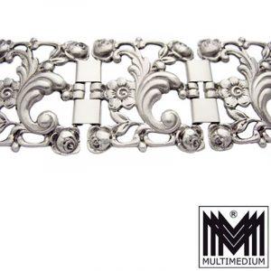 Jugendstil 800er Silber Armband Rosen 30er 40er Jahre silver bracelet