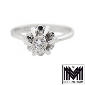 750er Weißgold Ring Diamant white gold ring diamond 18ct 750