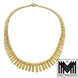 Modernist 50er Jahre 333er Gelbgold Collier Halskette gold necklace