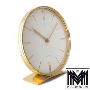 Junghans Electora Designer Tischuhr Messing 60er Jahe desk clock 60s