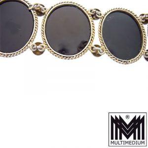Millefiori Silber Armband um 1840 Mikromosaik silver gilt micro mosaic