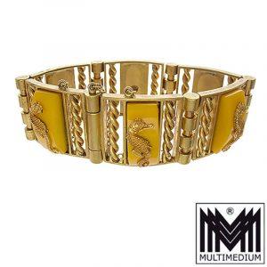 Jean Painleve Art Deco Armband JHP Frankreich Seepferchen Galalith