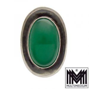 Achat Silber Ring Georg Kramer Ribnitz-Damgarten grün silver agate