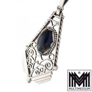 Art Deco Lapislazuli Silber Anhänger 30er silver Lapis Lazuli pendant