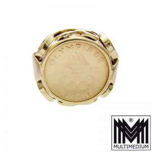 Vintage 585 Gold Ring Olympiade 1972 München Medaille Olympia 14ct