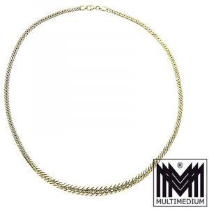 585 Gelbgold Panzerkette Halskette 14ct gold necklace 8,3g Kette