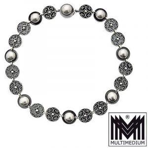 Modenist Silber Collier Gustav Hauber Halskette Tracht silver necklace
