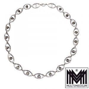 Modernist Collier Silber Amethyst Halskette vintage silver necklace