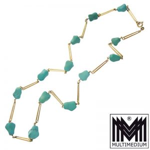 333 Gold Türkis Collier Halskette 8kt 8ct turquoise necklace