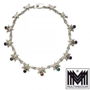 Modernist Silber Collier Halskette Mexiko Mexico TR 79 silver necklace