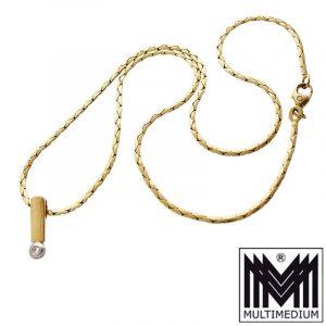 585 Gold Anhänger Diamant 0,02ct Kette 585 gold pendant diamond chain