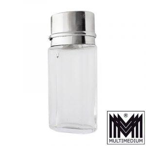 Jugendstil Martin Mayer Silber Riechfläschchen Glasflakon vinaigrette